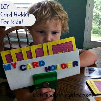 DIY cardholder for kids