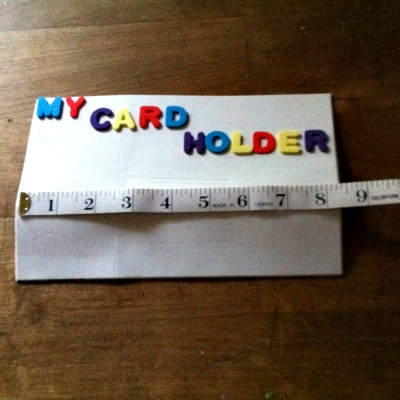 DIY Card Holder For Kids