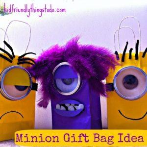 Despicable Me Minion Gift Bag Idea