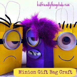 minion gift bag craft