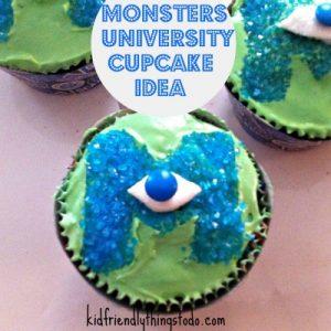 Monster's University Cupcake Idea
