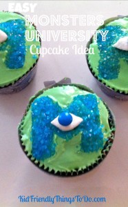 Easy Monsters University Party Cupcake Idea