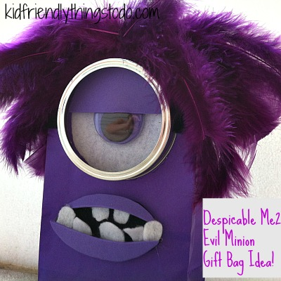 A Despicable Me 2 Evil Minion Gift Bag Idea