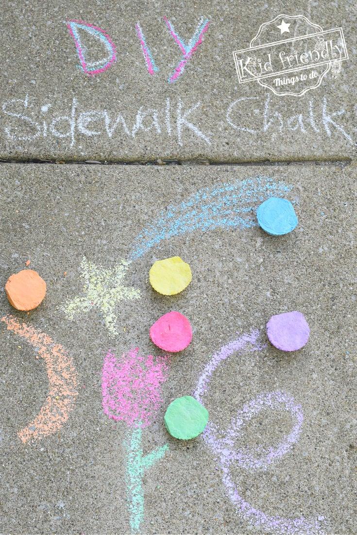 sidewalk chalk for kids to make