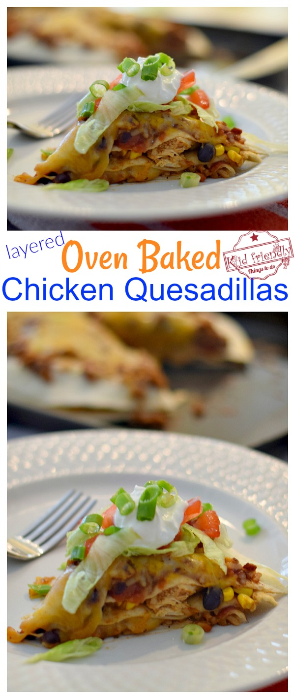 Oven Baked Chicken Quesadillas Recipe