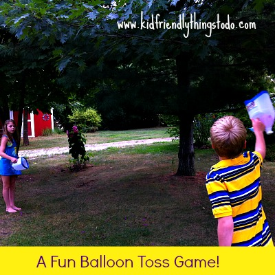 Recycle Milk Jugs {For a Fun Balloon Toss Game} | Kid Friendly Things To Do