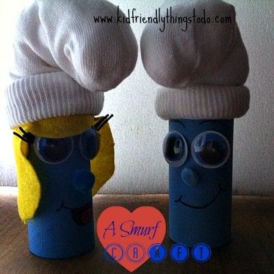 smurf and smurfette craft