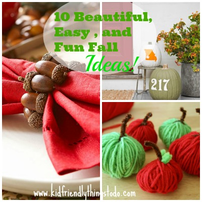 10 Beautiful, Fun, & Easy Fall Crafting, and Decorating Ideas