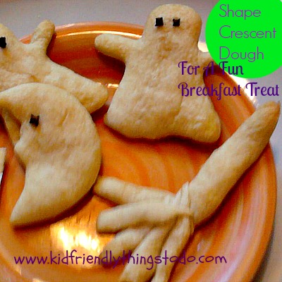 So Easy...So Cool! Shape Crescent Dough With Cookie Cutters For A Fun Breakfast Treat!