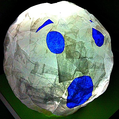 Paper mache halloween lanterns or night lights kid for Things made out of paper mache