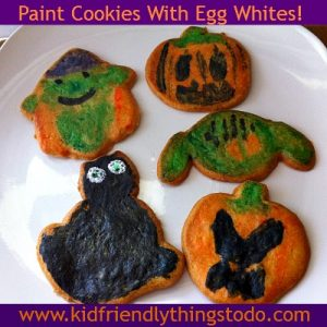 Painting Cookies with Egg Whites