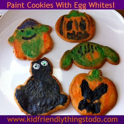 Paint Cookies {Using Egg Whites} | Kid Friendly Things To Do