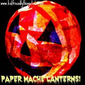 Halloween Paper Mache Lanterns