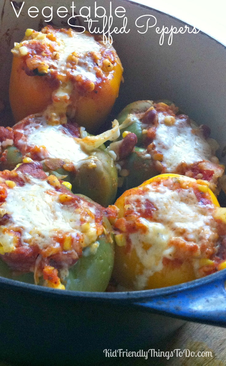 Amazing Vegetable Stuffed Peppers - KidFriendlyThingsToDo.com