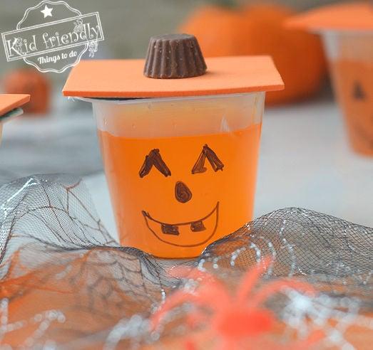 Jack-O-Lantern Halloween Jell-O Snacks