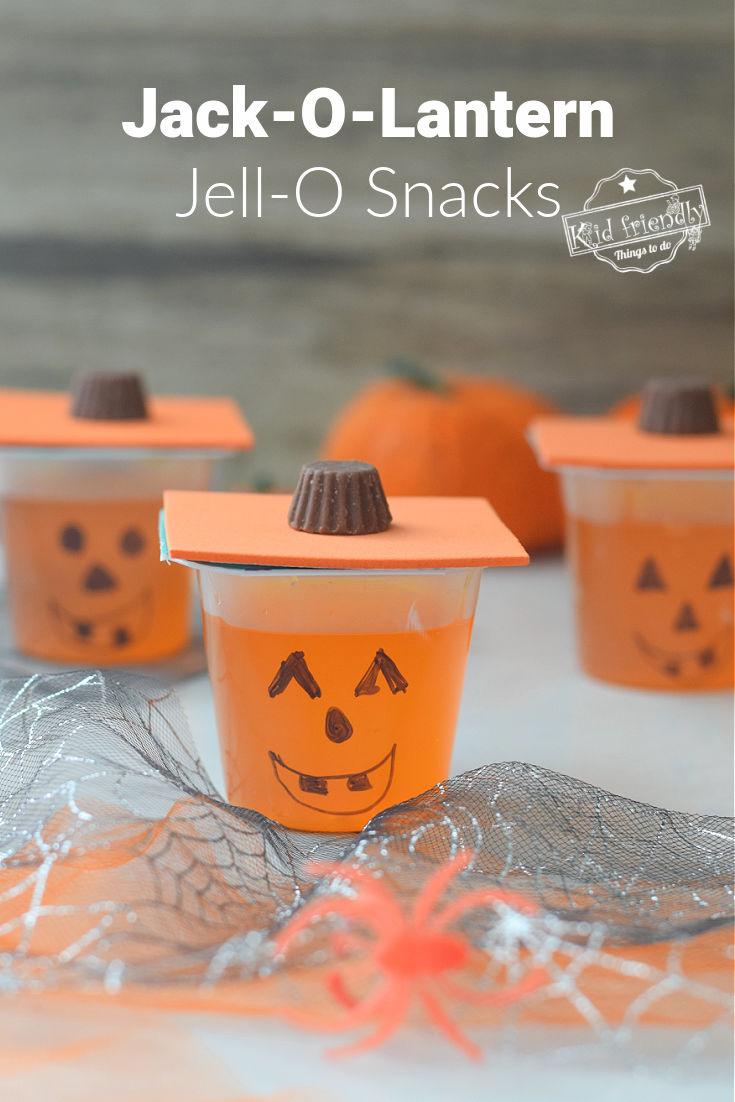 Jack-O-Lantern Jell-O Snacks