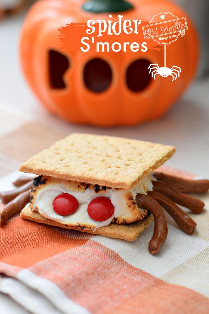 Spider S'mores Halloween Treats