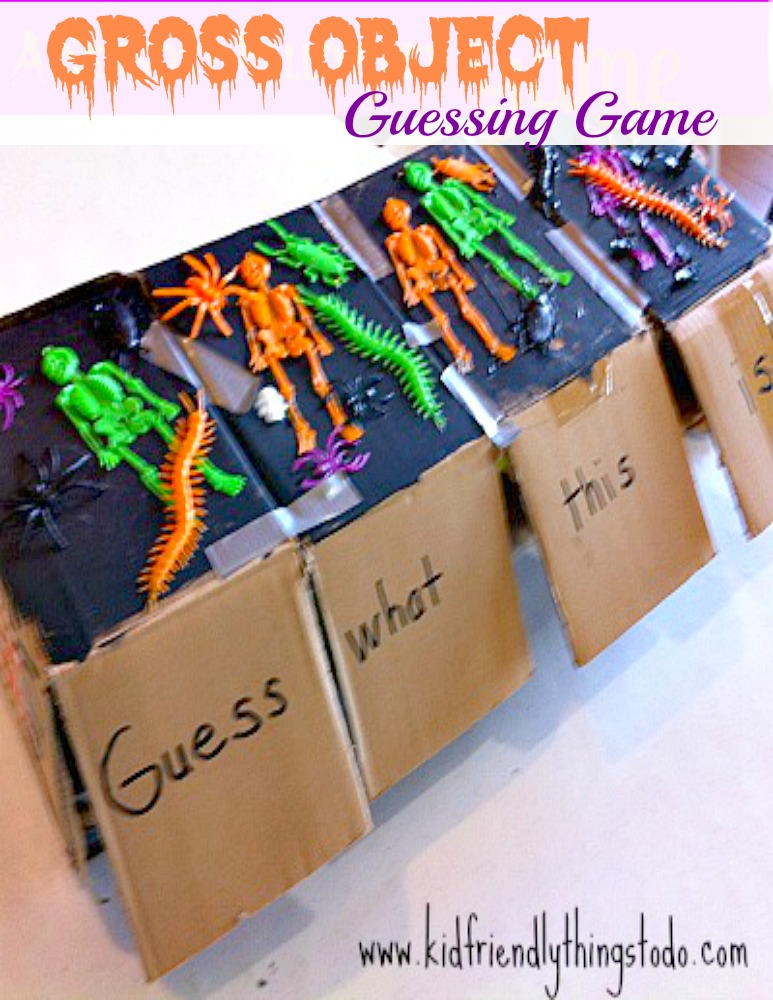 Gross Object Guessing Game! Perfect for Halloween party games! - KidFriendlyThingsToDo.com