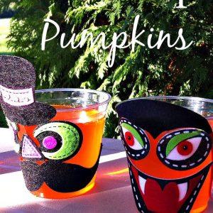 Halloween Jell-O cups