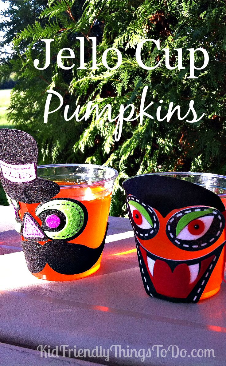 Decorate A Cup Of Jell-O for Halloween (fun Party Idea!)