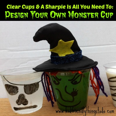 Design A Monster Drink Cup {A Fun Halloween Idea} – Kid Friendly Things To Do