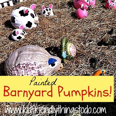 DIY Painted Pumpkins {Barnyard Animals} | Kid Friendly Things To Do