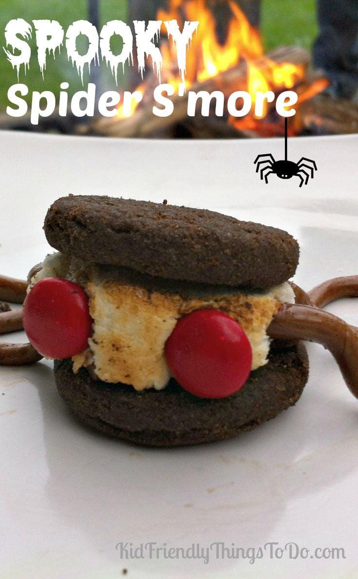 A Spooky Spider S'more For Halloween - KidFriendlyThingsToDo.com