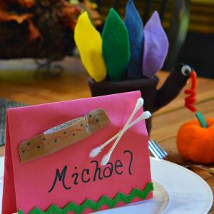 Thanksgiving place card for kids