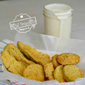 Fried Pickles with ranch