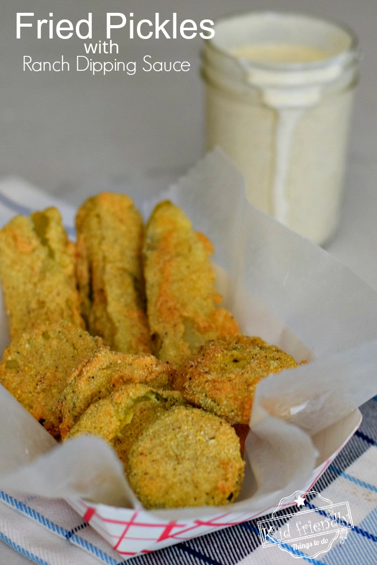 Fried Pickles with Ranch Dipping Sauce Recipe
