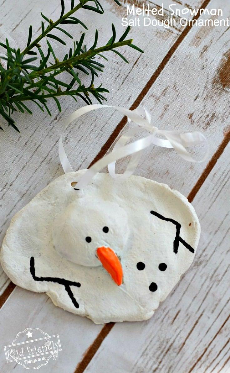 Melted Snowman Salt Dough Craft