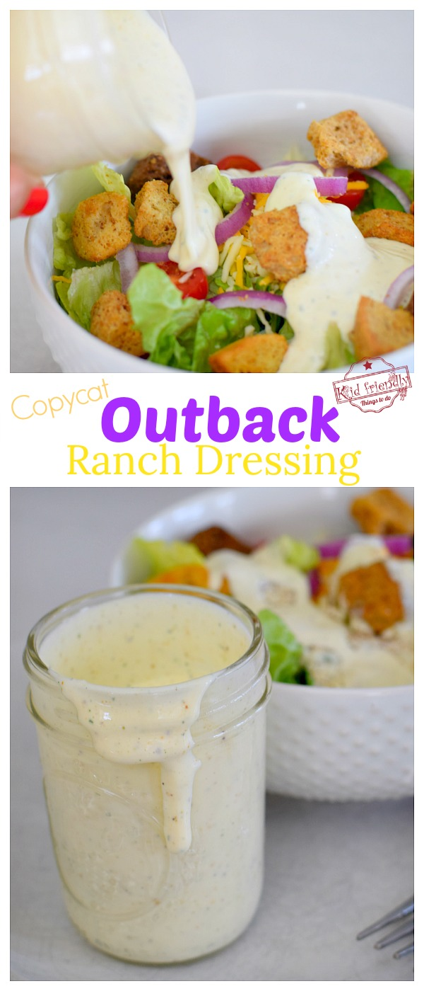 Outback copycat recipe for ranch dressing