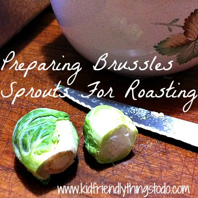 Trimming, and Preparing Brussels Sprouts For Roasting