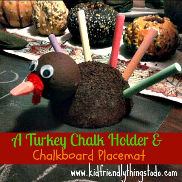 A Chalk Holder Turkey Craft!