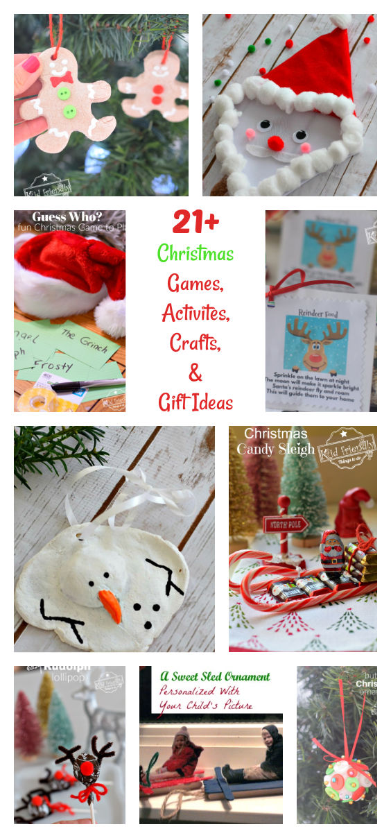 Over 21 Christmas Crafts and Activities for kids