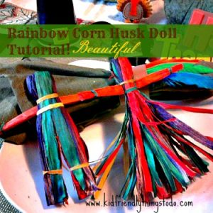 A step by step tutorial with pictures to make these beautiful Rainbow Corn Husk Dolls!