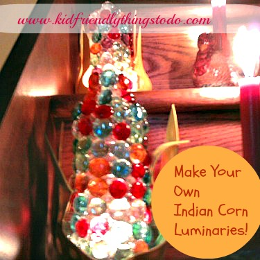Indian Corn Luminaries – A Craft For Thanksgiving
