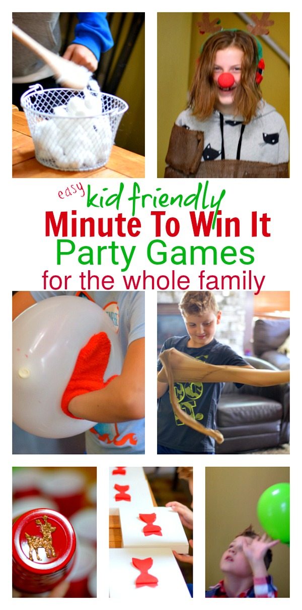 minute to win it Christmas games for the family