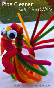 Pipe Cleaner Turkey For a Treat Holder and Thanksgiving Craft