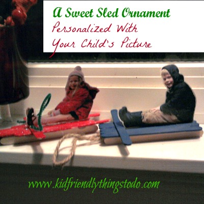 Make a sentimental Sled Ornament!