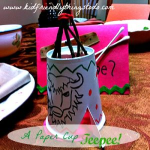 Make A Simple Paper Cup Teepee | Kid Friendly Things To Do