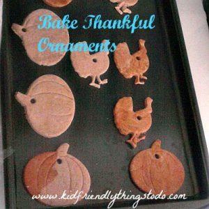 No Bake Thanksgiving Thankful Tree ornaments