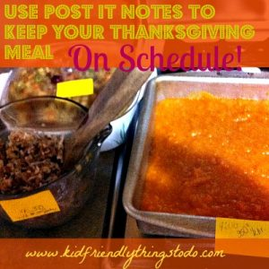 time management hack for holiday meal