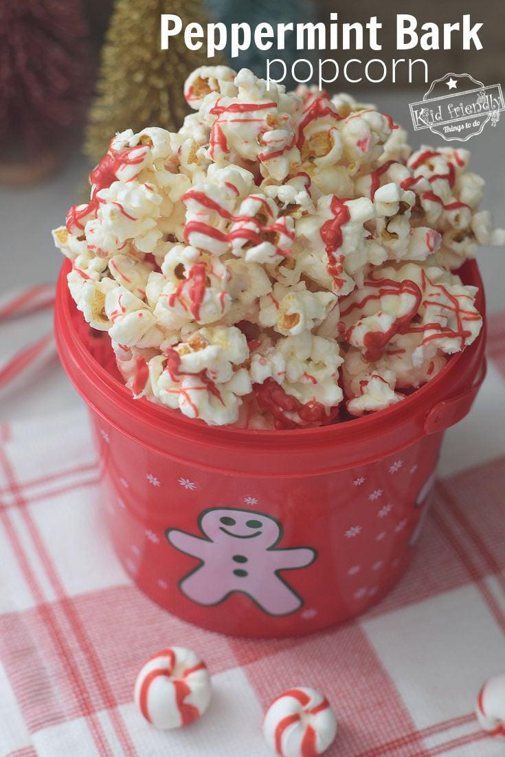 Christmas popcorn snack mix