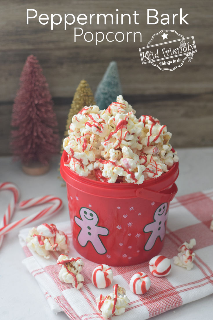 chocolate and peppermint popcorn mix