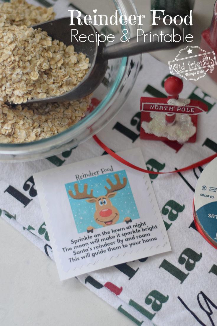 reindeer food materials
