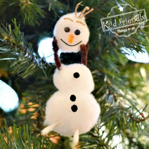 Olaf From the Movie Frozen Christmas Ornament | Kid Friendly Things To Do