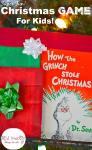 """A Fun Holiday Game for Kids Using """"How the Grinch Stole Christmas"""""""