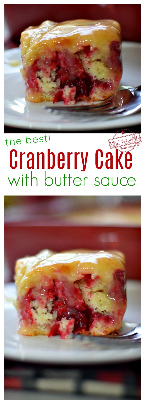 Christmas Cranberry Cake with Butter Sauce Recipe