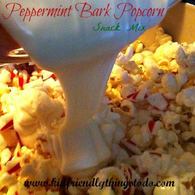 Peppermint Bark Snack Mix - a great Christmas Snack Mix